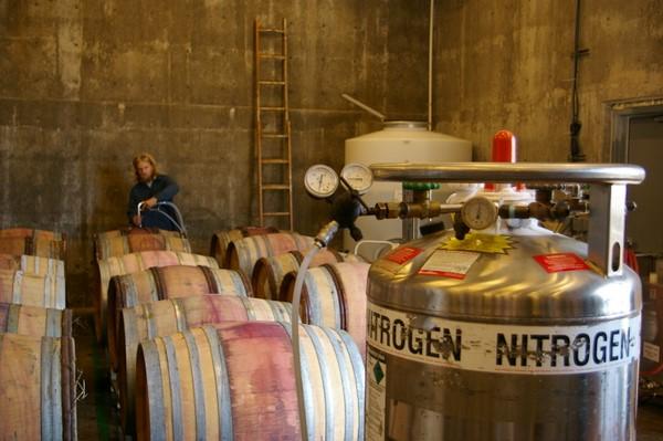 Перелив вина с азотом