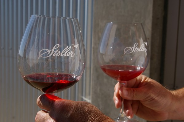 Фильтрованное и нефильтрованное вино в бокалах